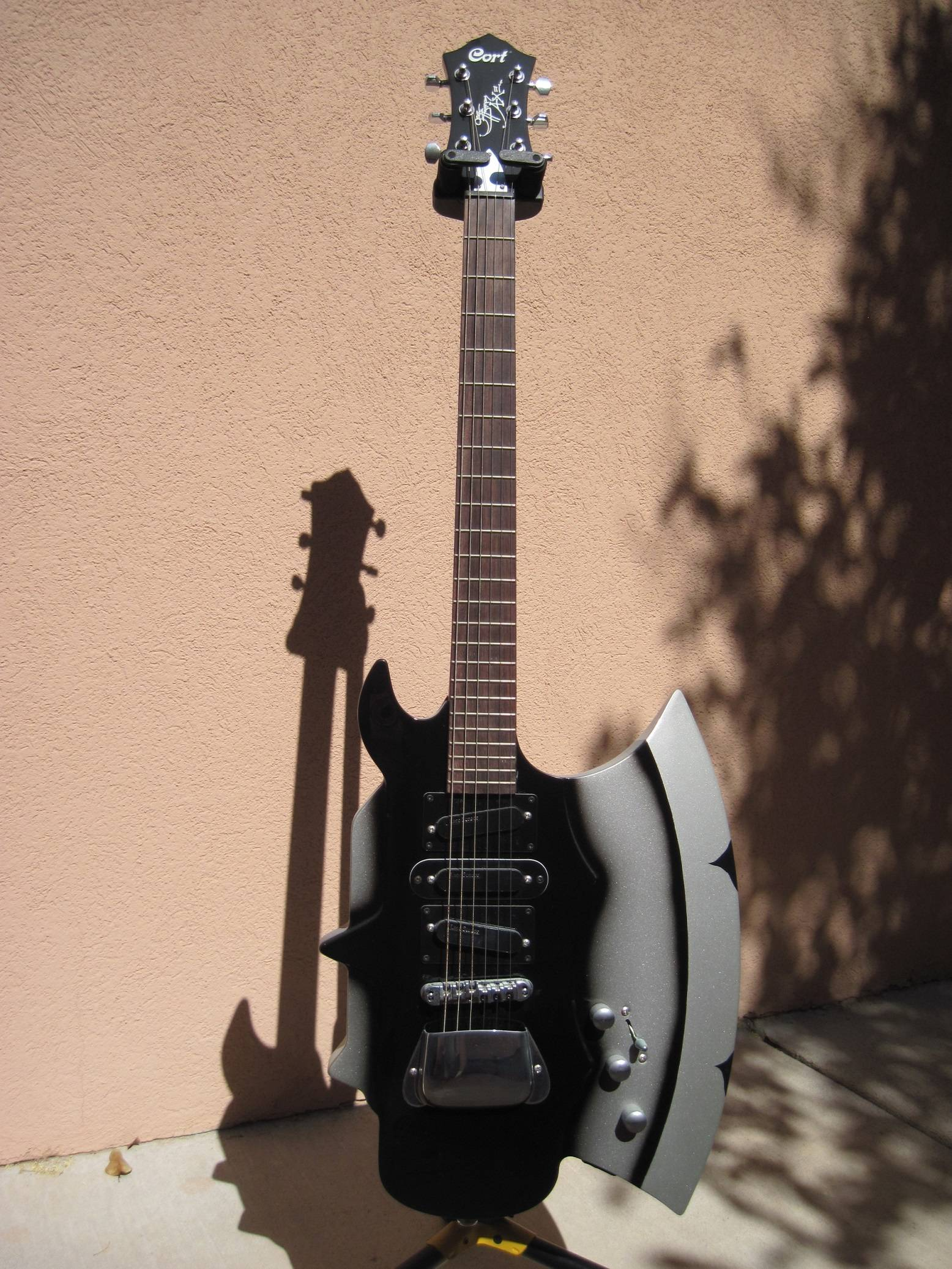 Modified 2012 Cort GS AXE 2 6 String Gene Simmons Guitar