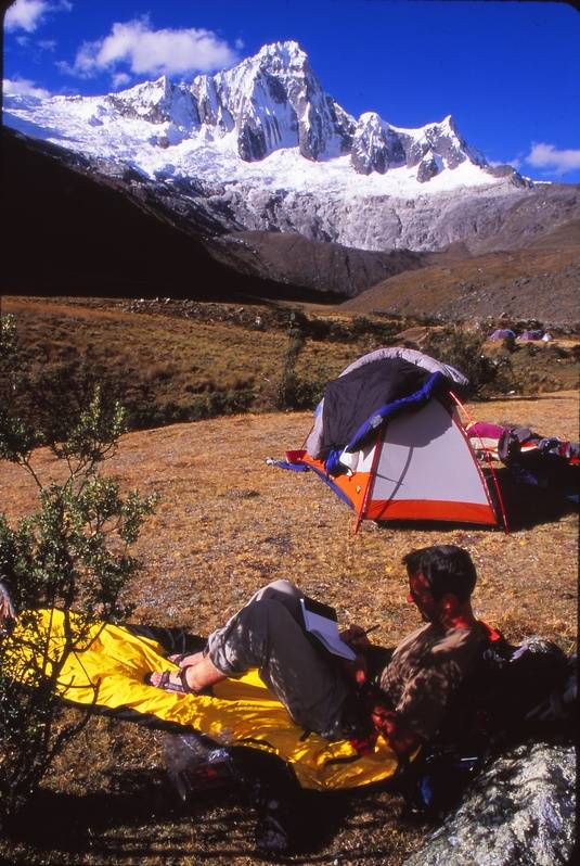 Camping on Santa Cruz Trek