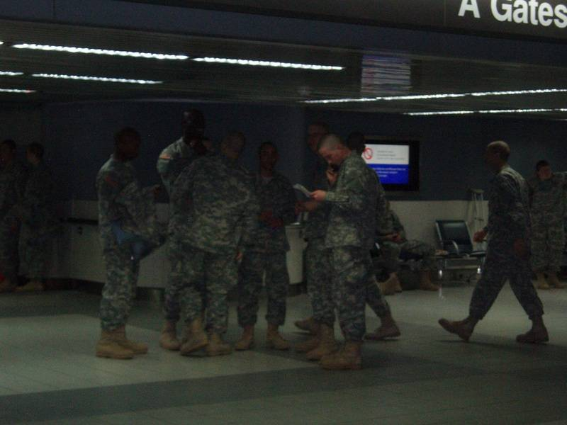 More troopers passing thru the Airport
