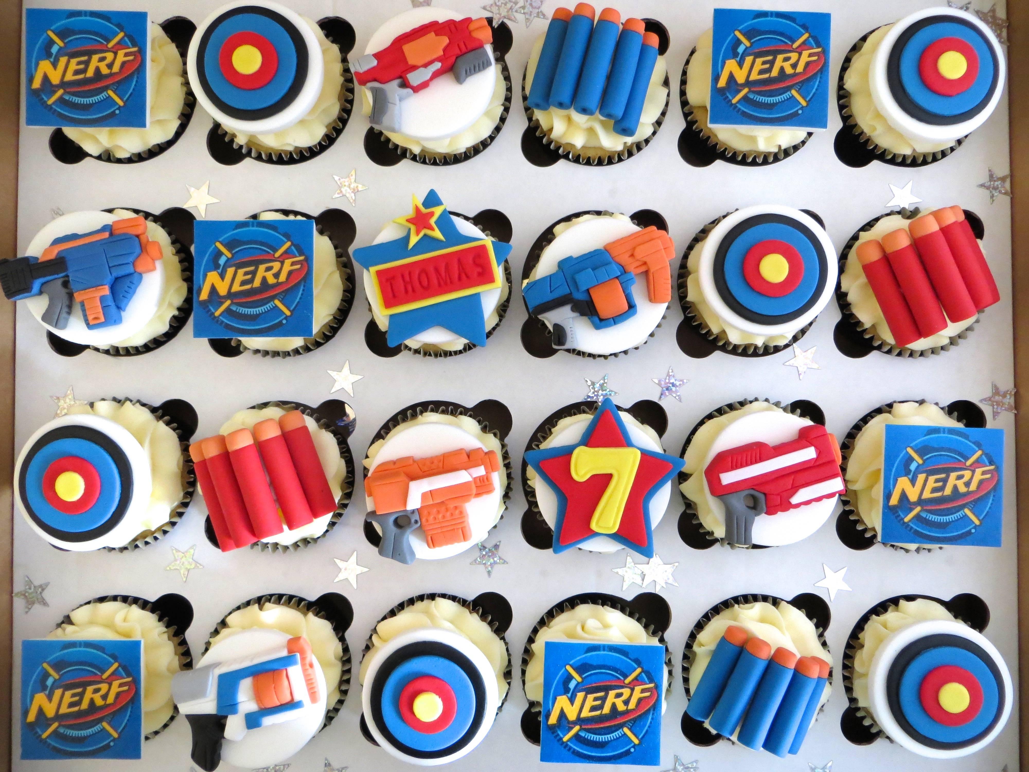 Nerf Gun cupcakes