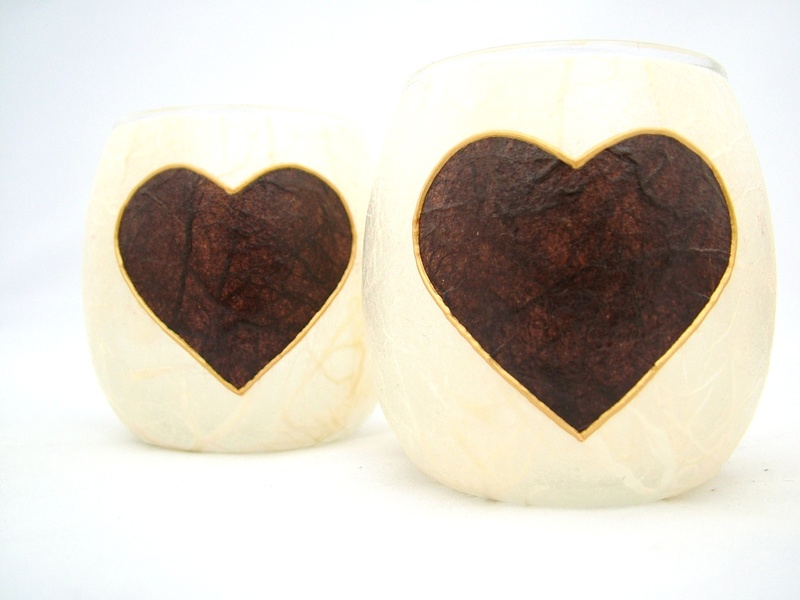 Cream and Brown Country Heart