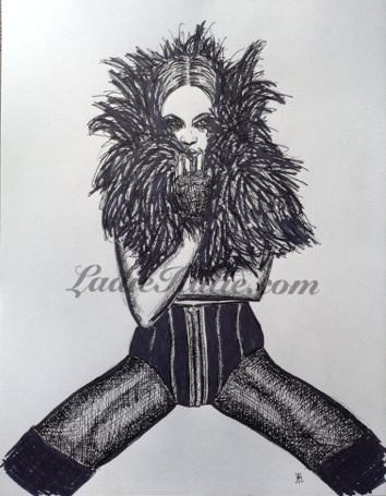 Beyonce ink illustration