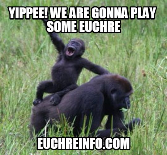 Yippee! We are gonna play some Euchre.