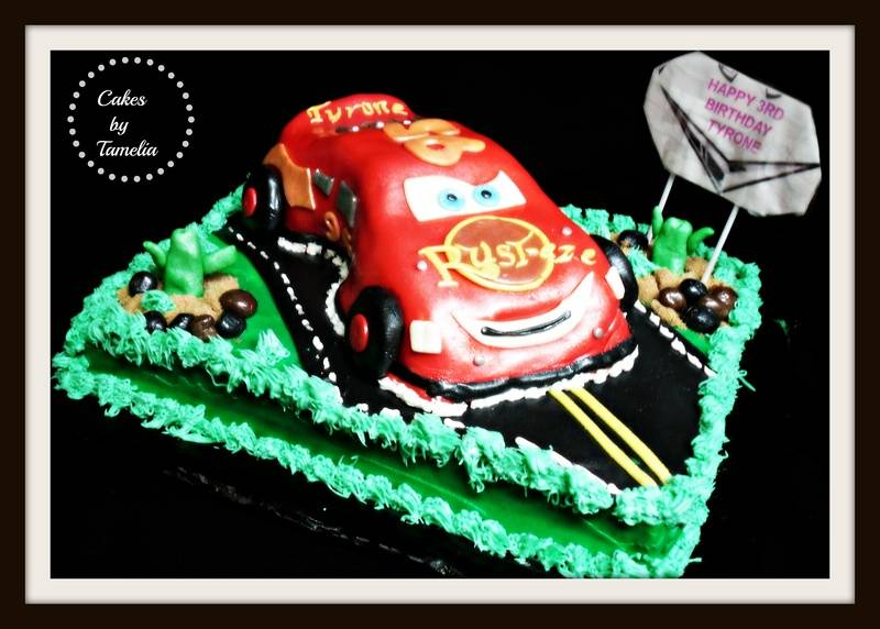 Cars Cake with road
