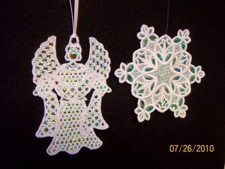 Pat's Angel and Snowflake