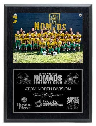 Sublimated plaques with your photo or log. Full colour
