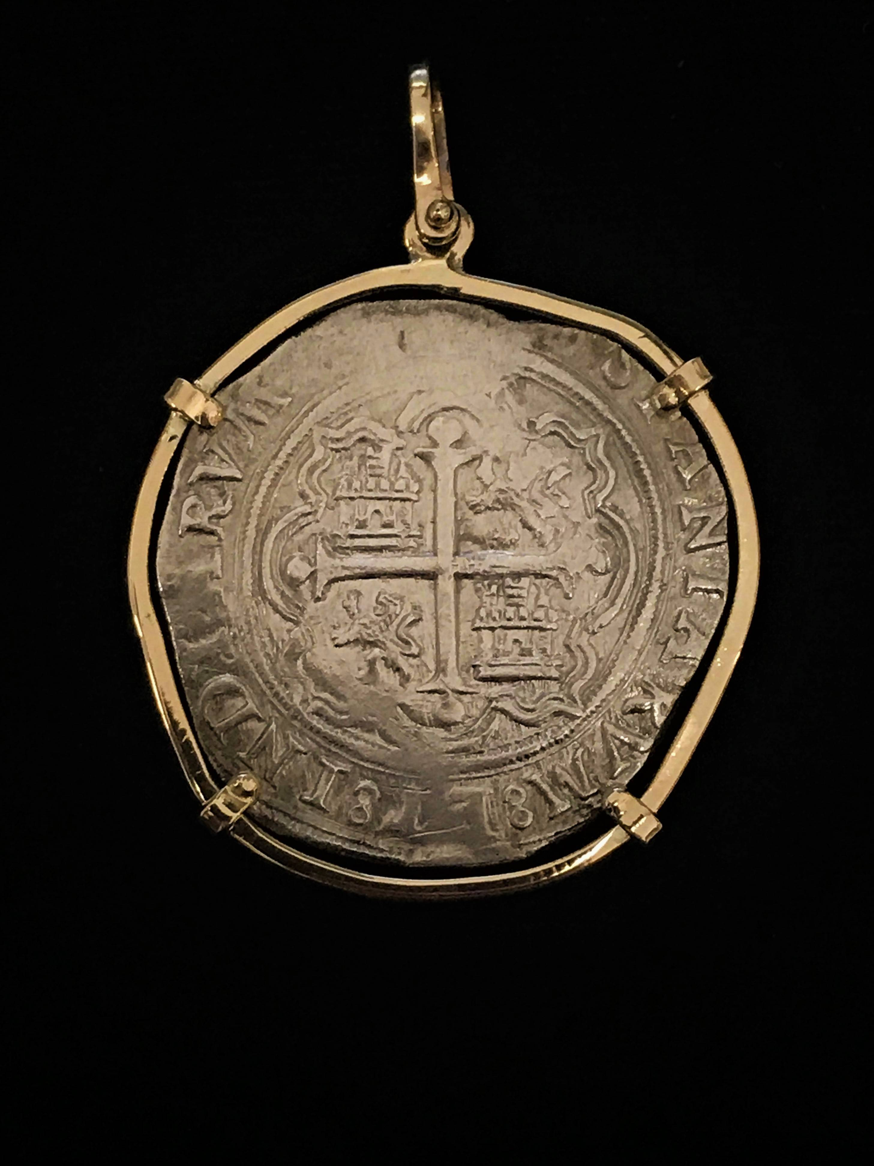 """Mexican mint late 1560s 8 reale """"O"""""""