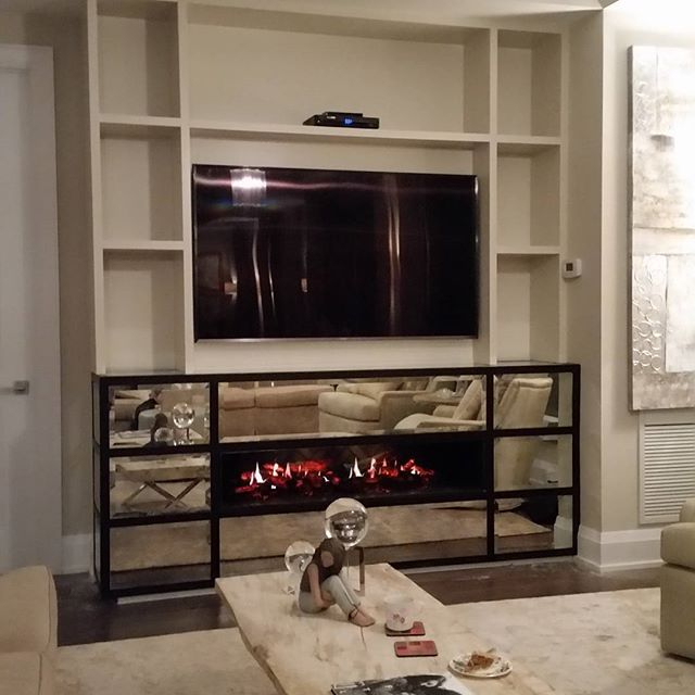 Custom Built Wall Unit with Fireplace