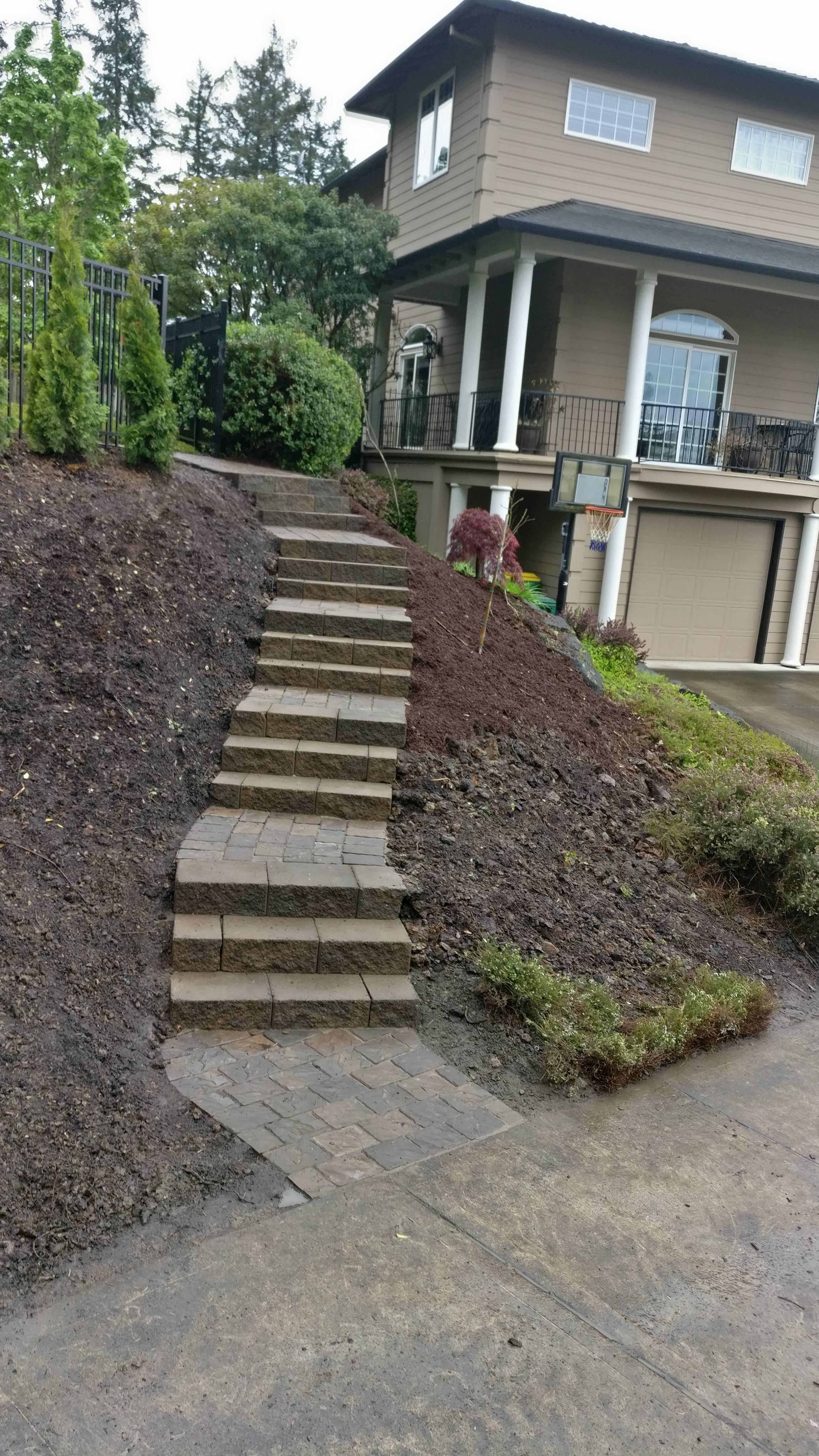 Block Steps in Beaverton Oregon