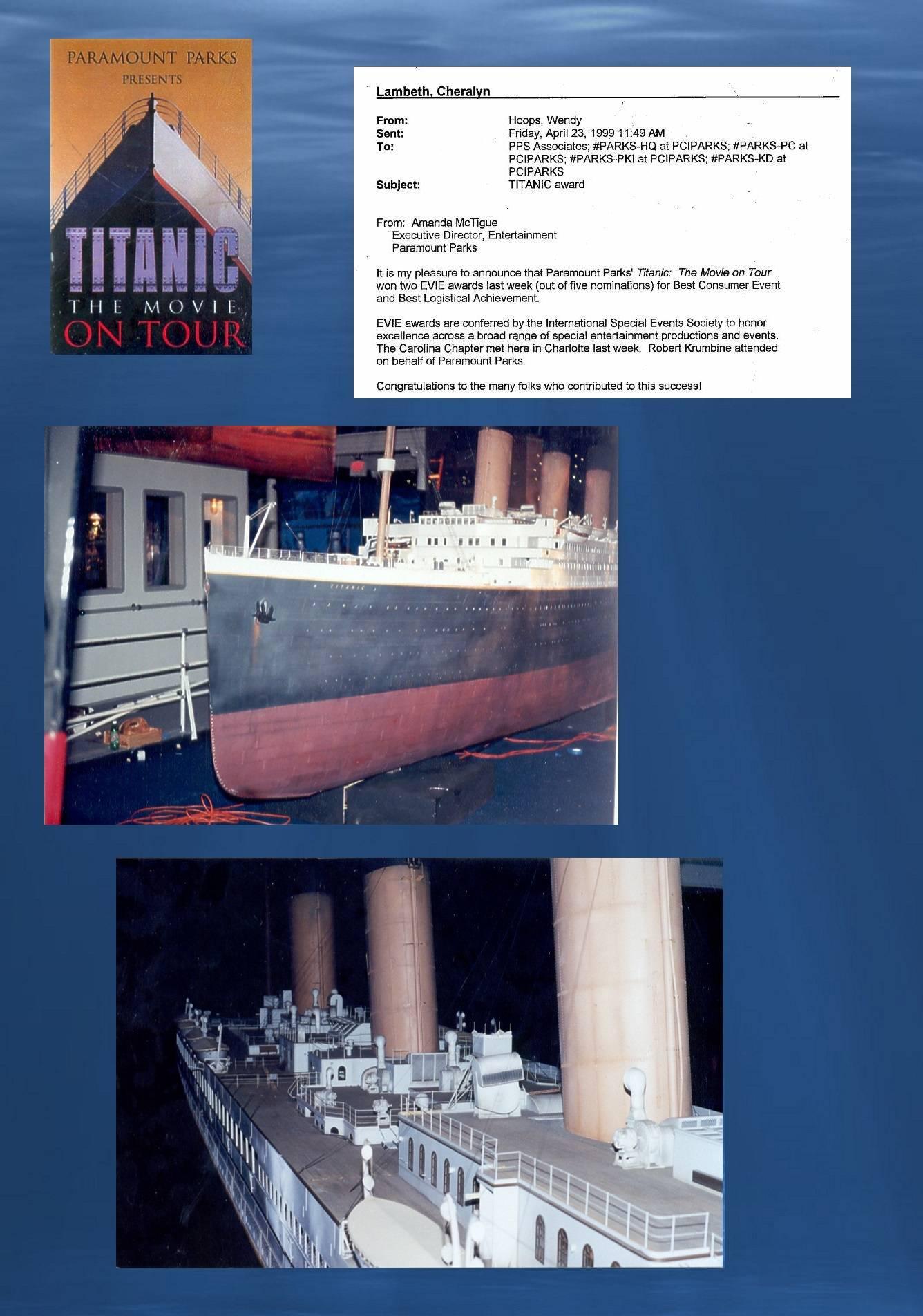"""Titanic model repair, """"Titanic:  The Movie on Tour"""""""