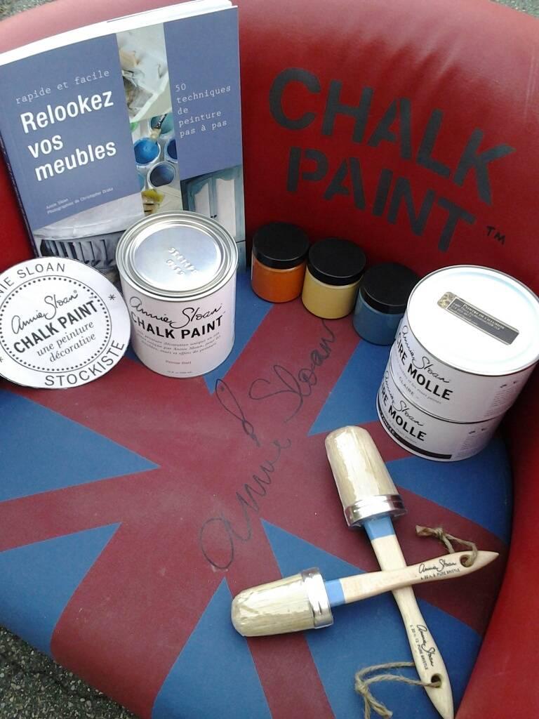 Chaise Peinte avec la peinture Chalk Paint? Annie Slaon