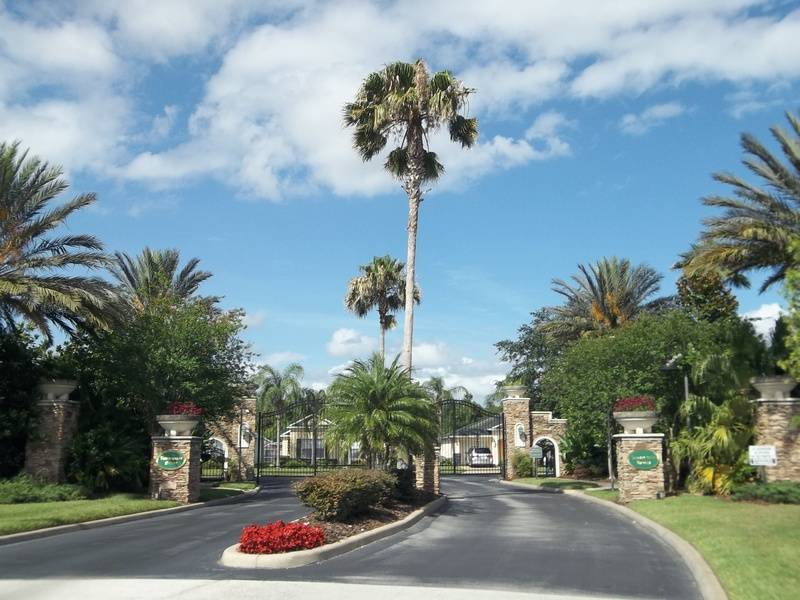 Entrance Drive to the gates