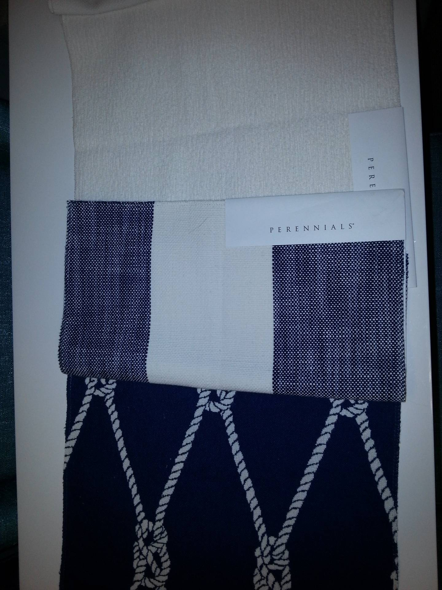 Fabrics for the Guest cabin