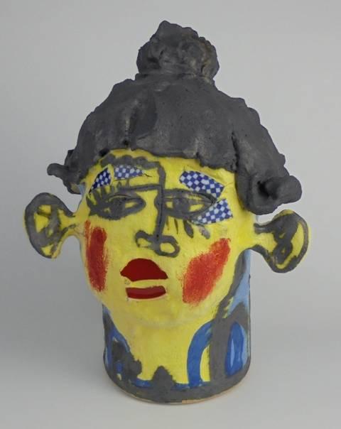 Mary Jones Ceramics. Sixpence.  SOLD