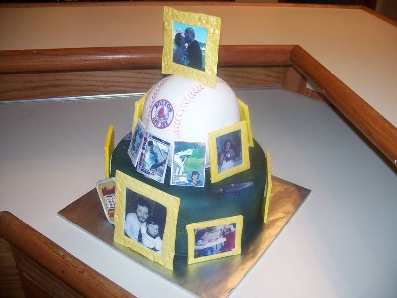 Red Sox & photo cake