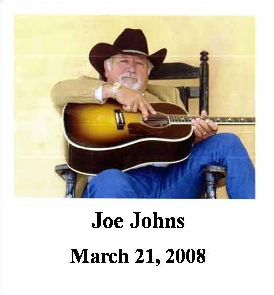 Joe Johns, 03/21/2008