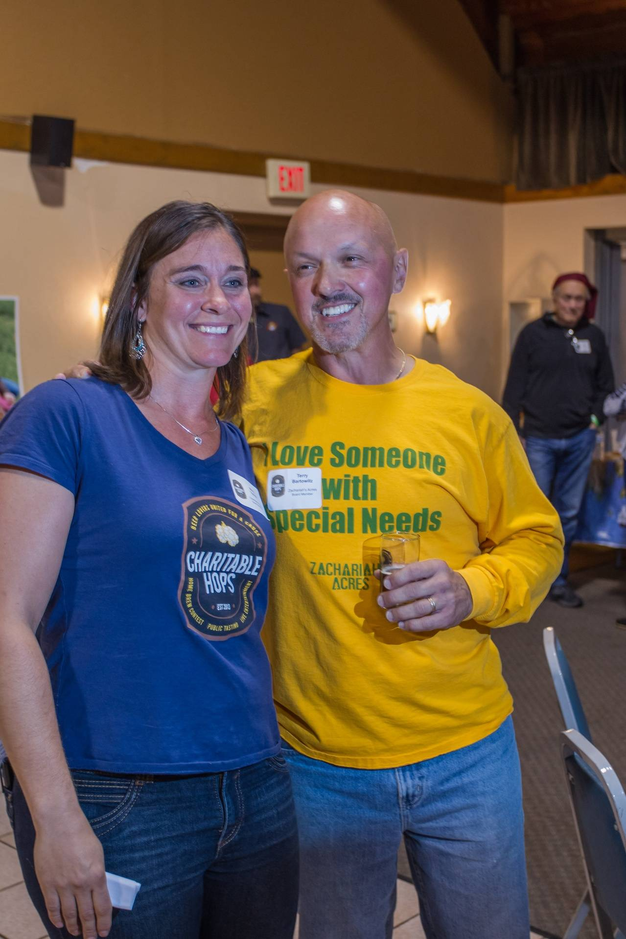 Mary Tylicki of Charitable Hops and Terry Bartowitz of Zachariah's Acres