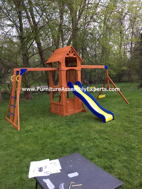 swing set installation service in