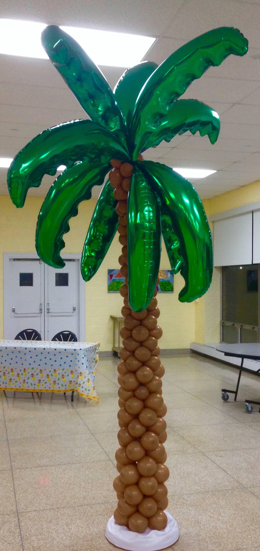 Balloon Palm Tree Column Sculpture