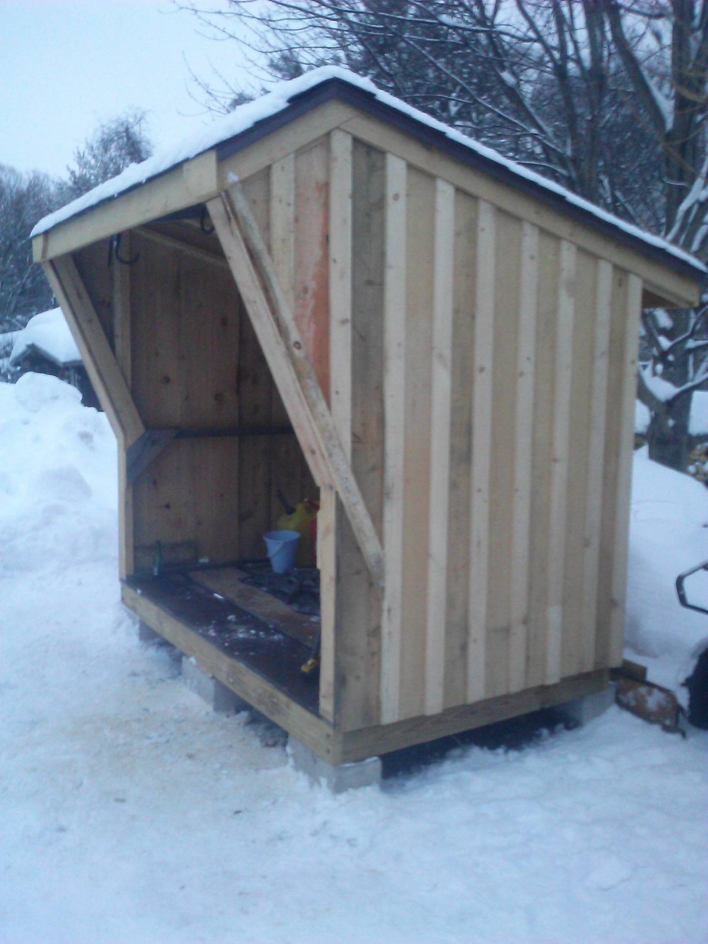 firewood shed - side view