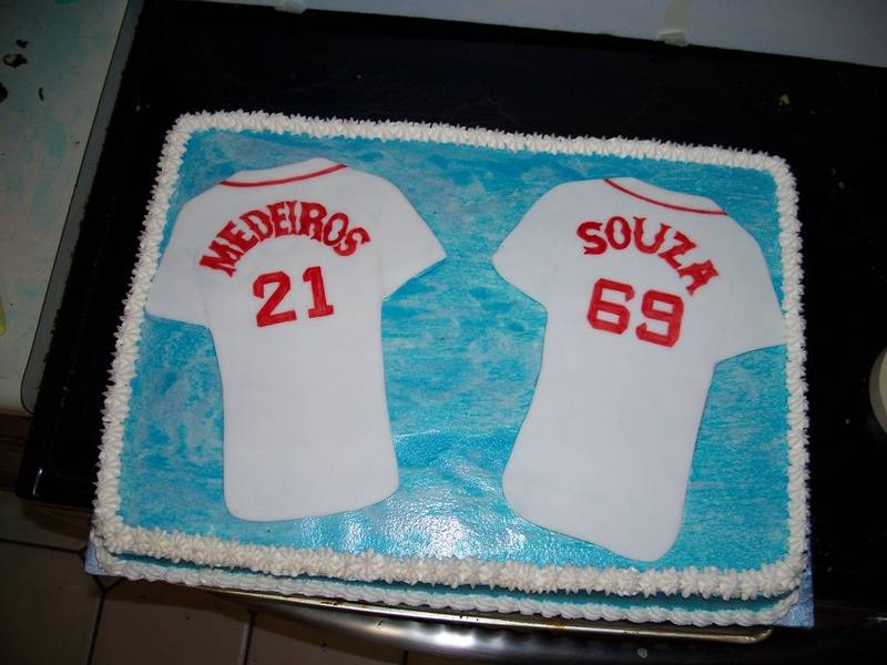 Red Sox Jersey Cake