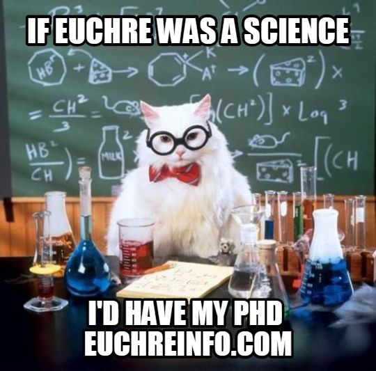 If Euchre was a science I'd have my PHD.