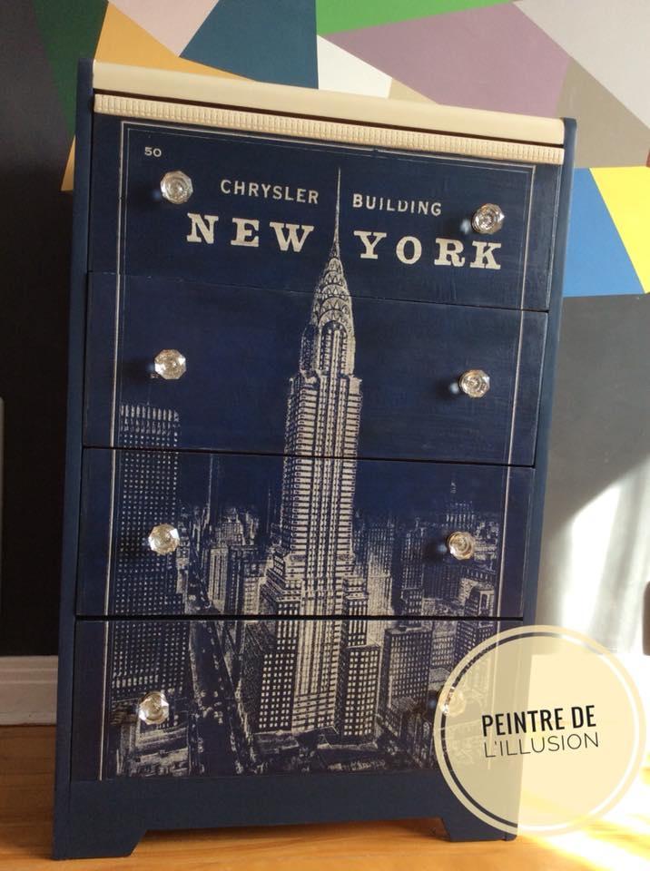 Meuble New York Peint