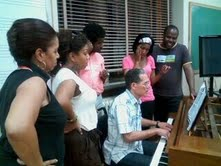 OperaCreole Rehearsals at Xavier