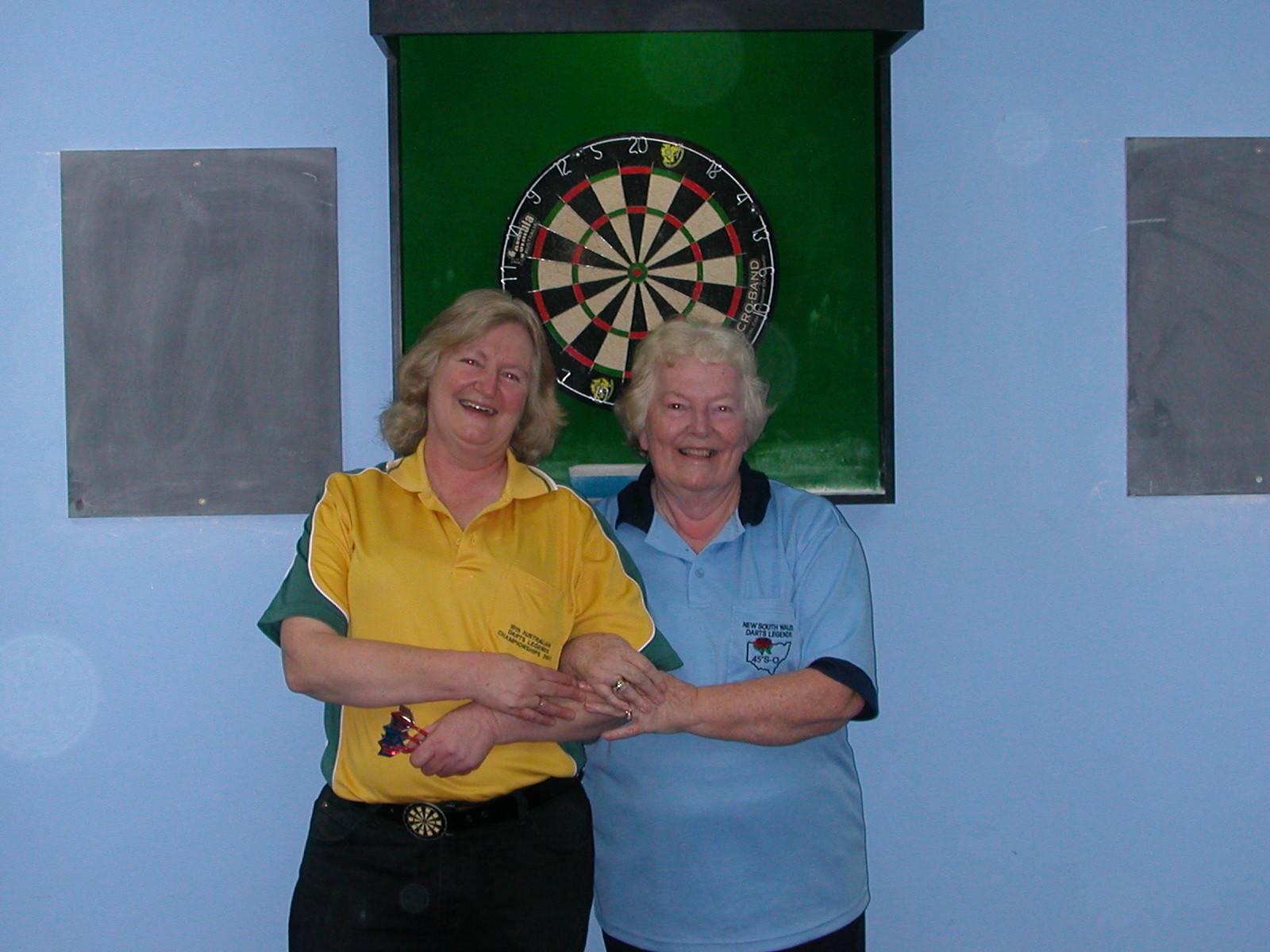Ladies Doubles Winners Cheryl Cox & Jan Philp