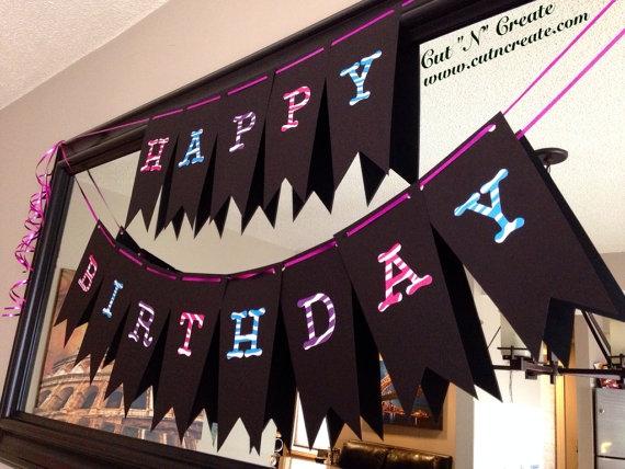 Happy Birthday Monster High Banner