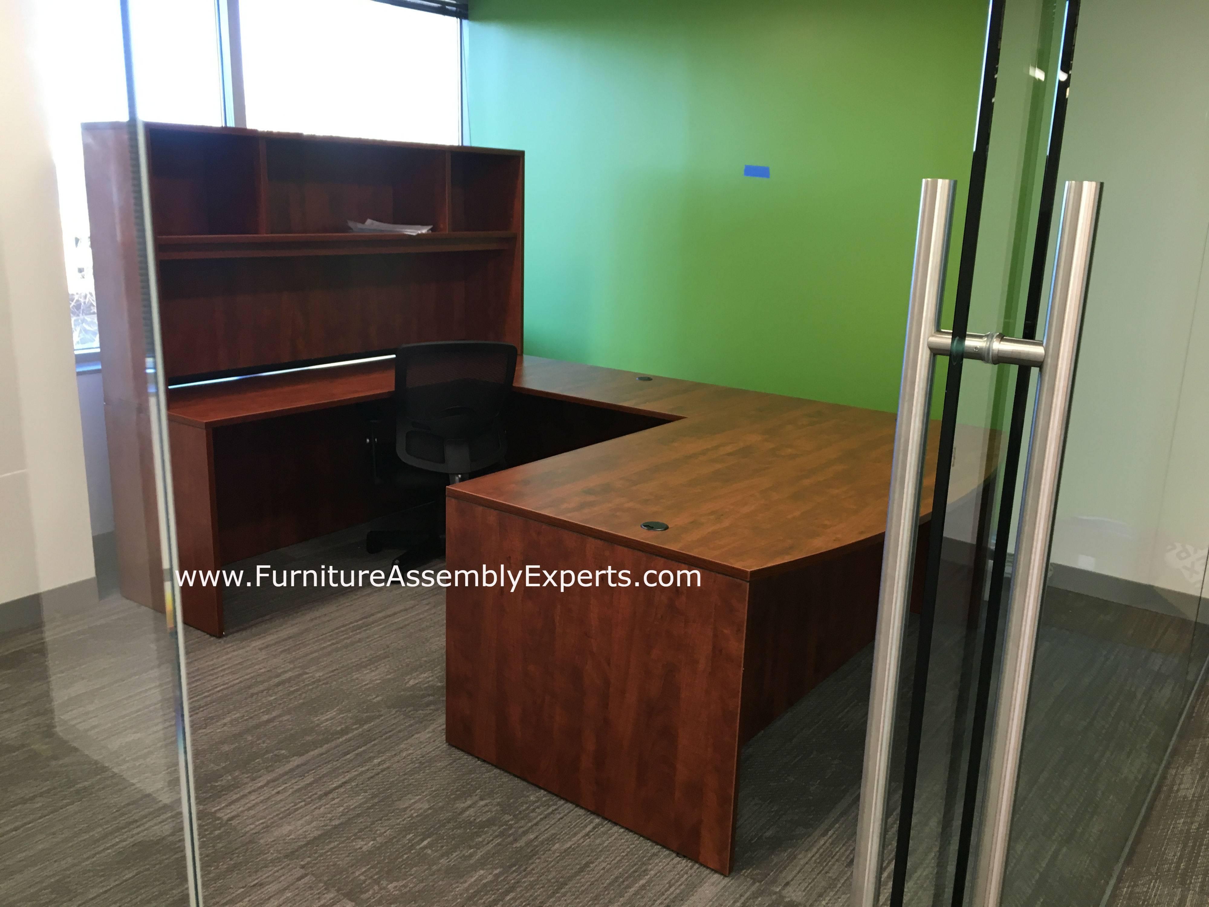 executive desk installation in Washington DC