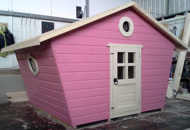 Fancy Wooden Playhouse (6' x 6')