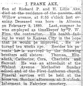 Ake, J. Frank 1906
