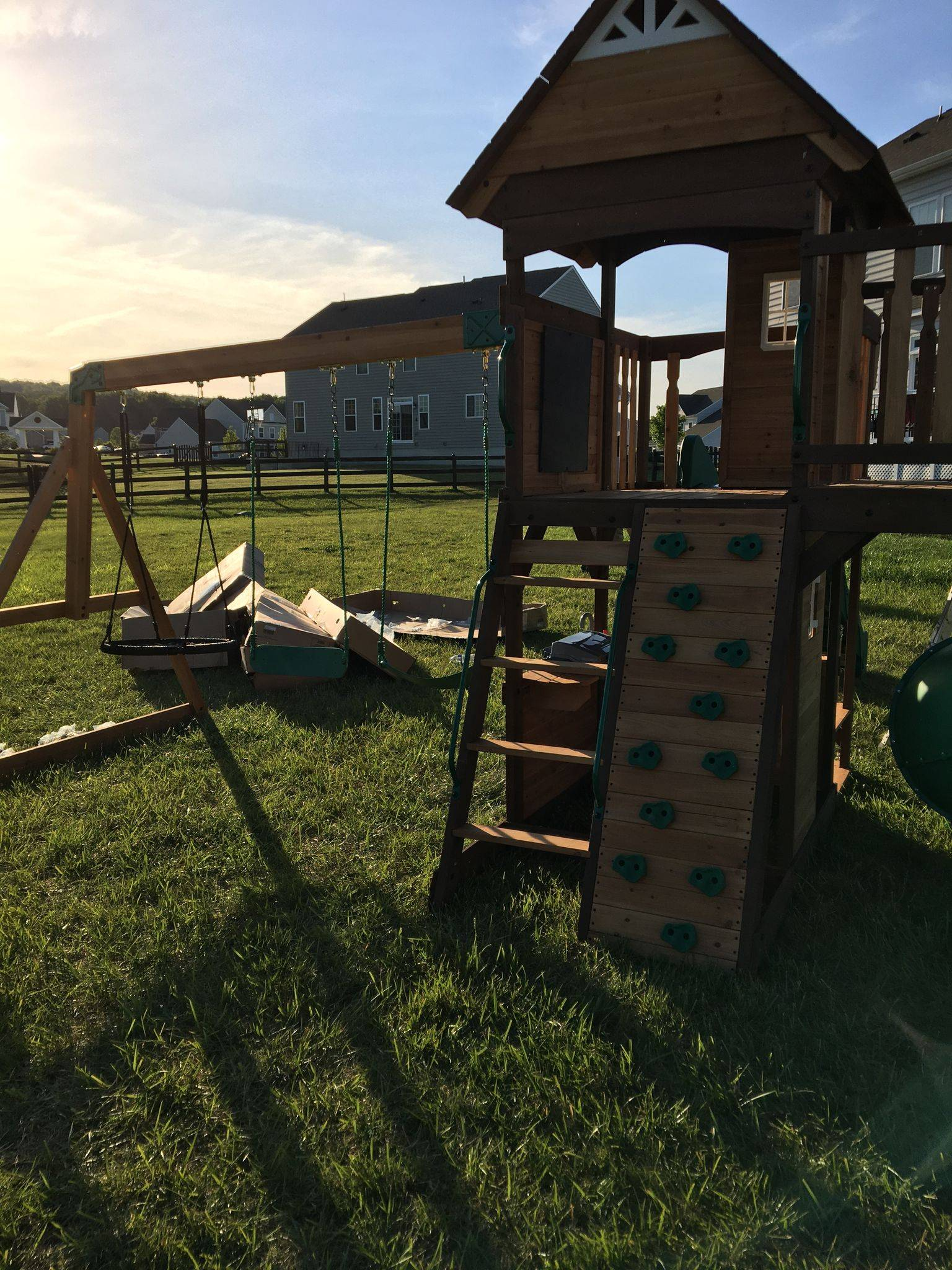 Backyard discovery cedar cove swing set assembly in Potomac Maryland