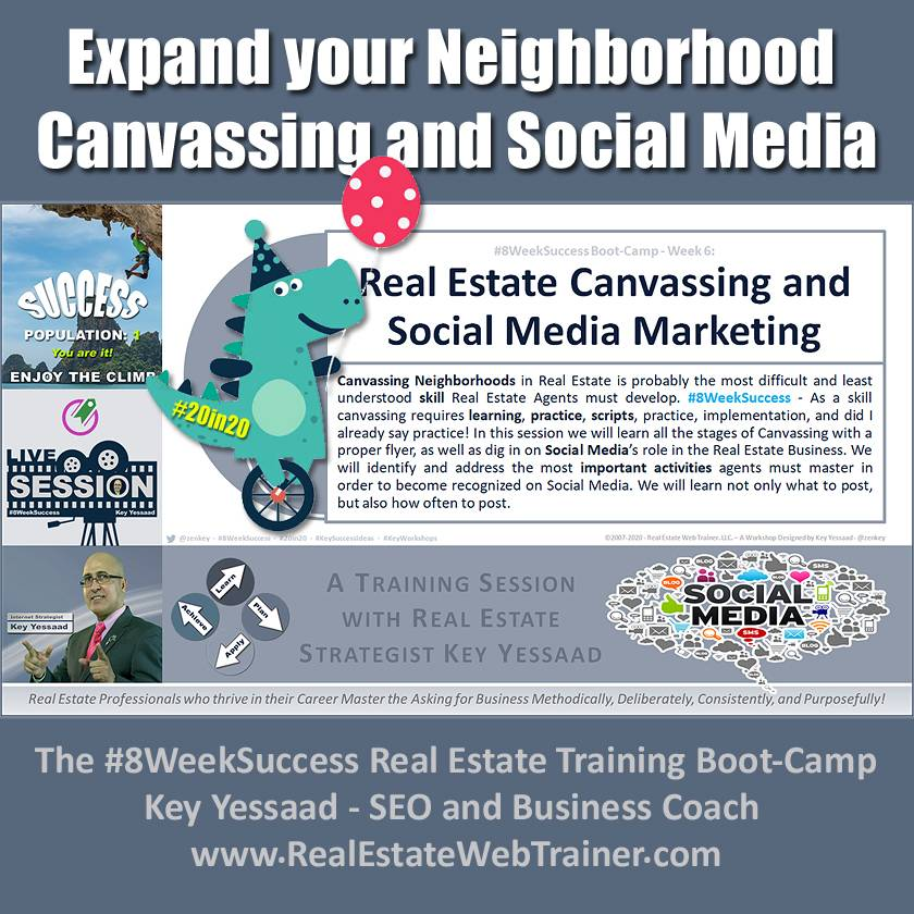 Expand your Neighborhood Canvassing and Social Media - Week 6 Dec 2019 - #8WeekSuccess