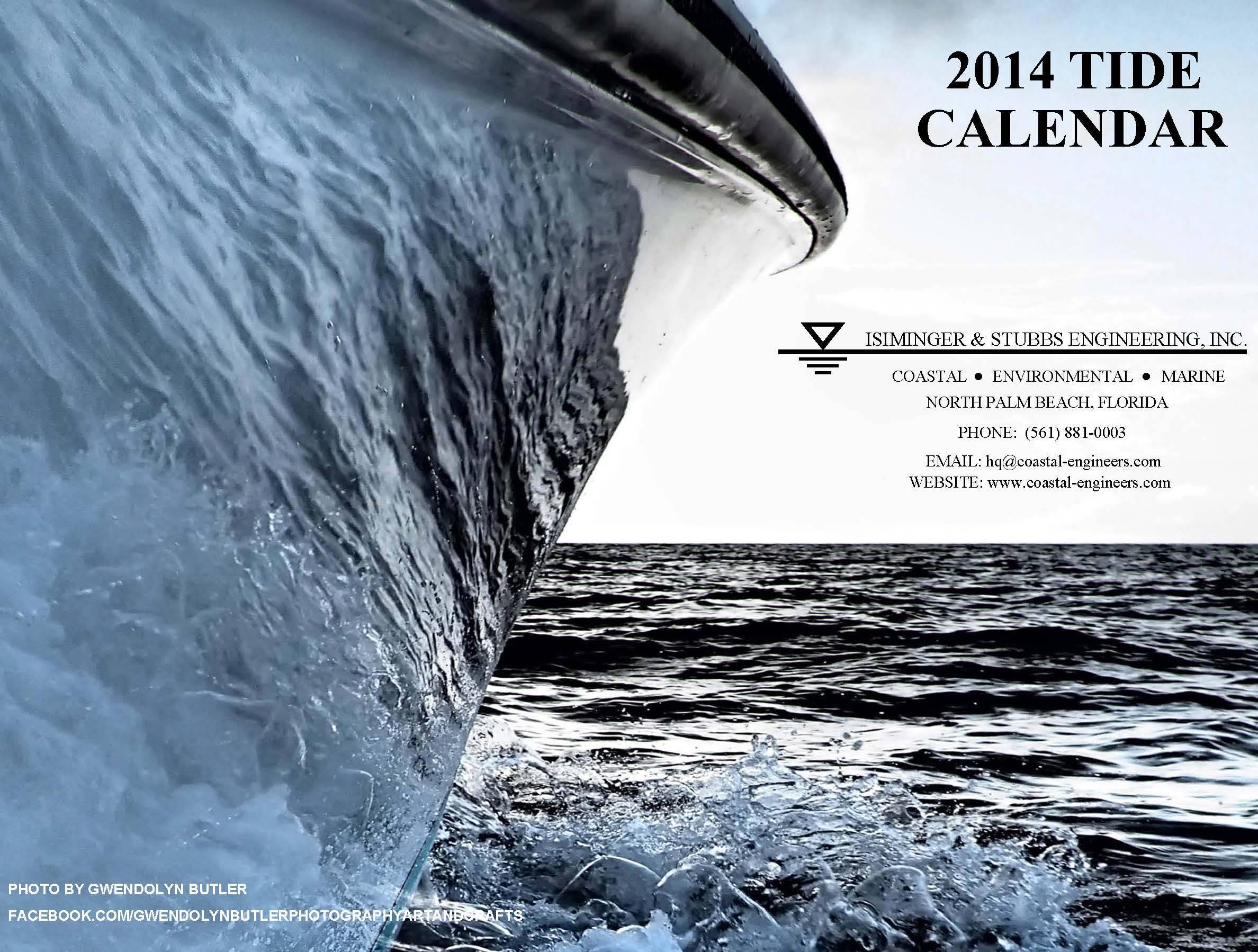 2014 Tide Calendar Cover