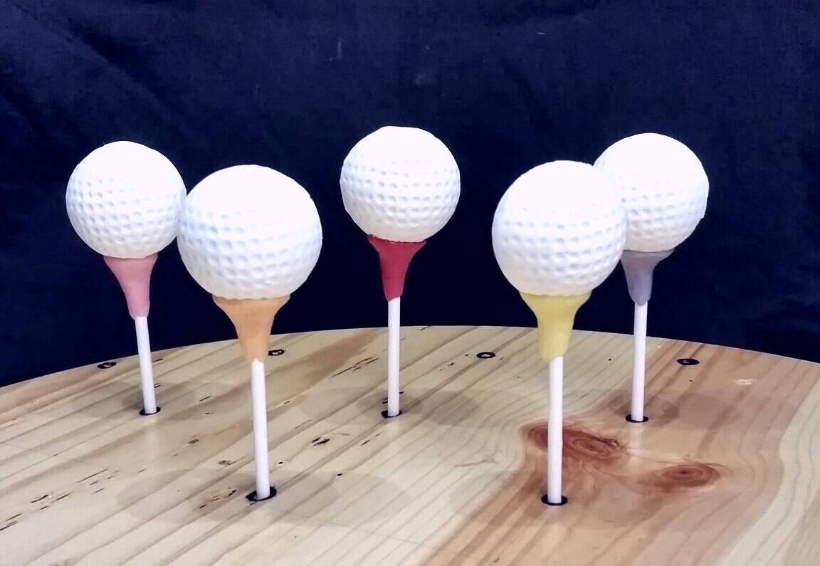 Golf Ball Cake Pops