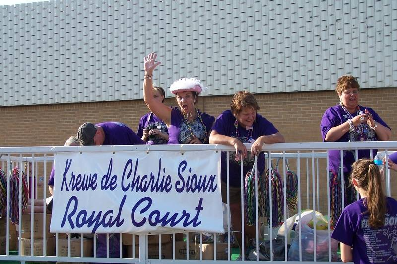Royalty float in the parade