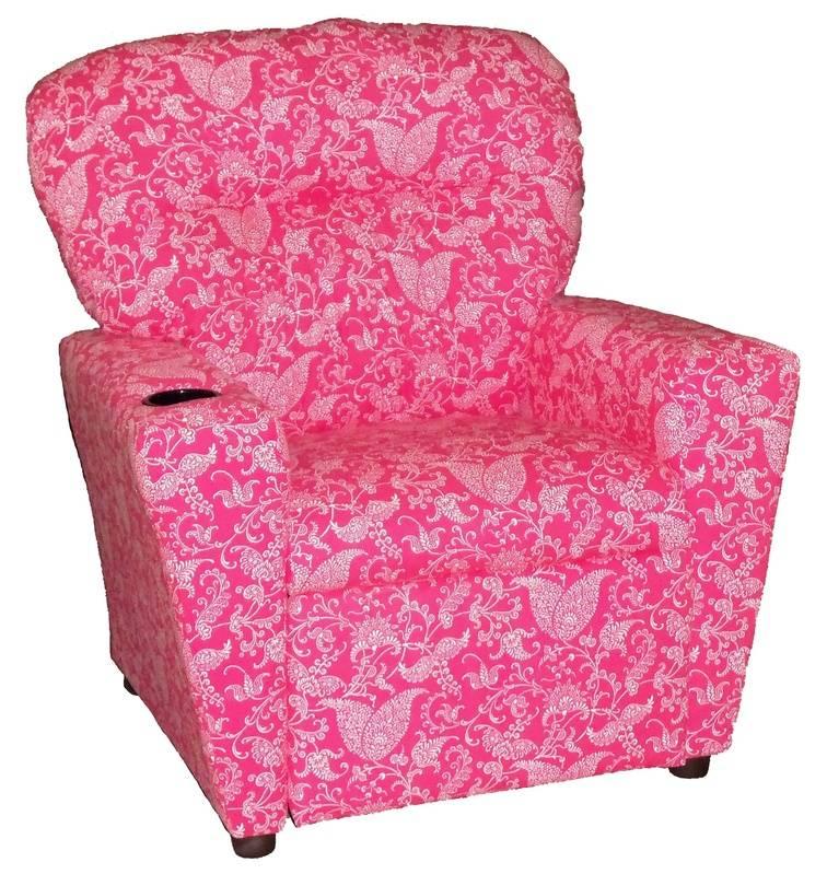 #TW800R Tween Recliner  - Small Paisley Pink