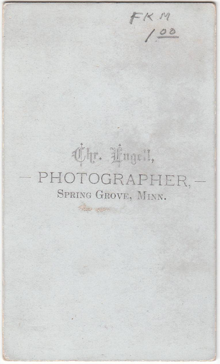 Chr. Engell of Spring Grove, MN - back