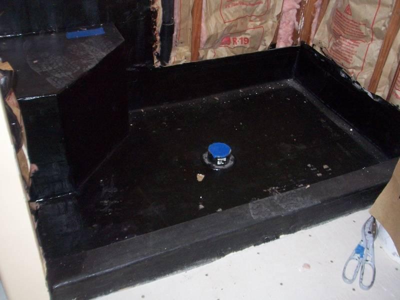 Waterproofing, Shower pan