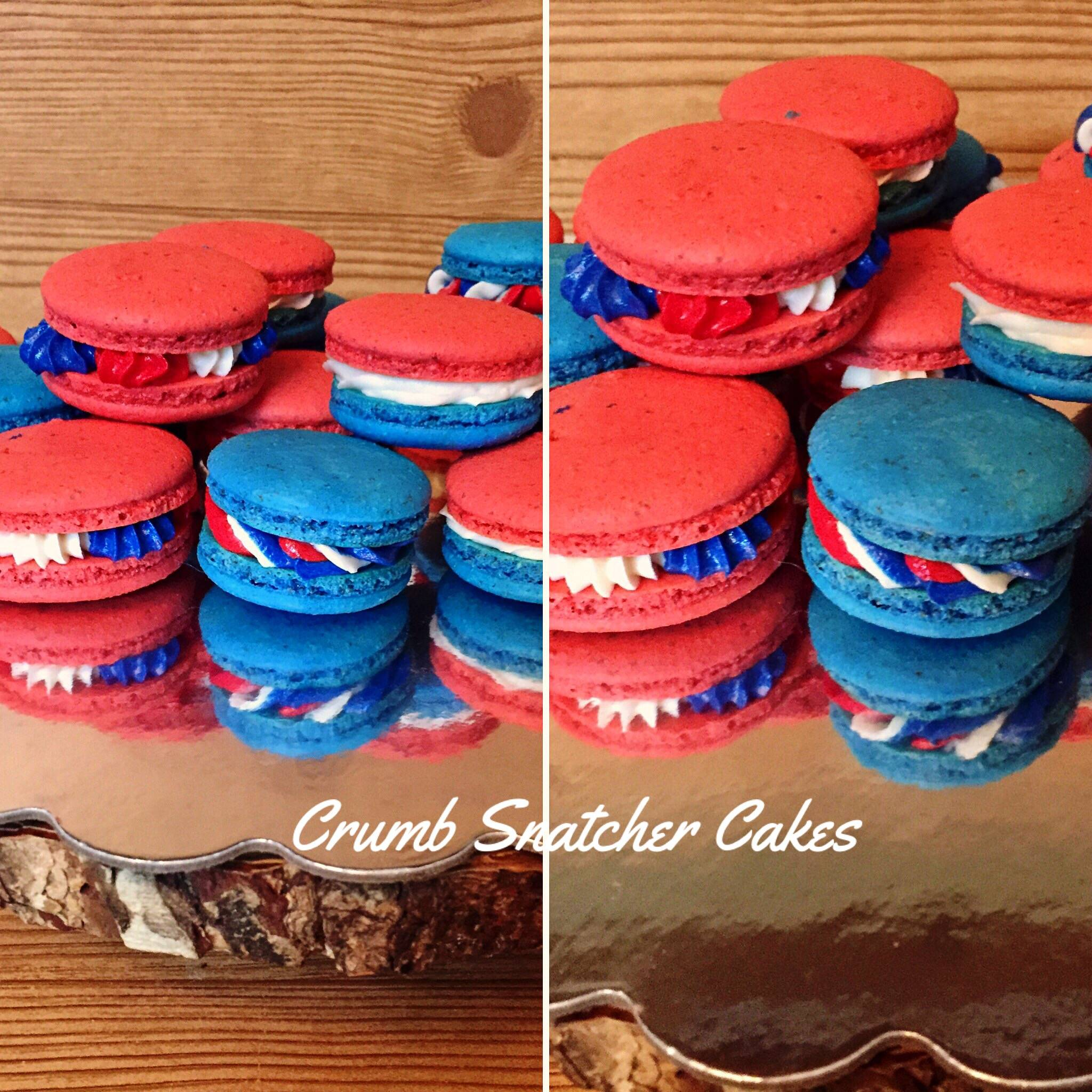 4th of July themed Macarons.