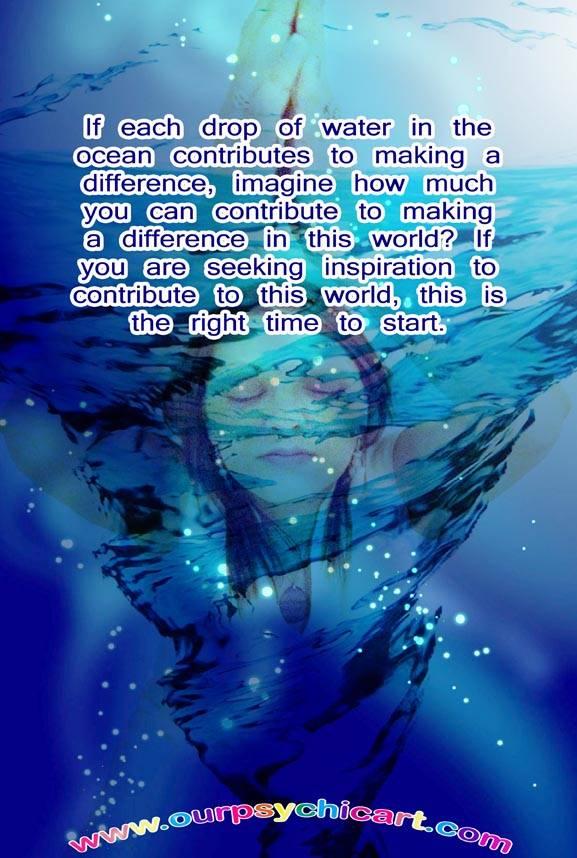 A drop of water in the ocean