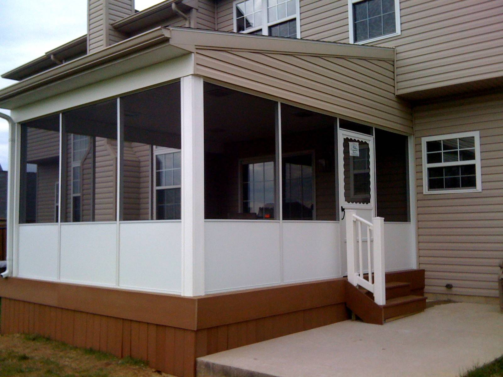 New roof, deck and screen room