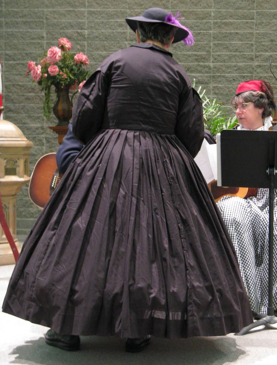 Mrs. Bixby and a player for Uncle Billy's Balladeers