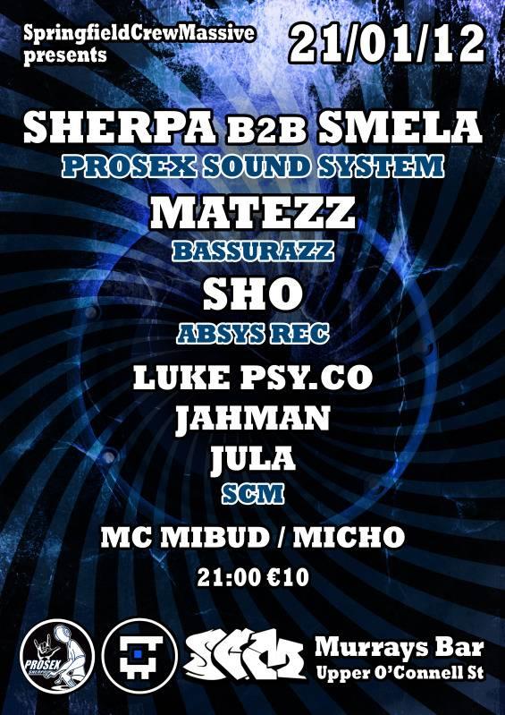 2012.01.21 - Sherpa Smela  SCM - Murrays Bar @ Dublin
