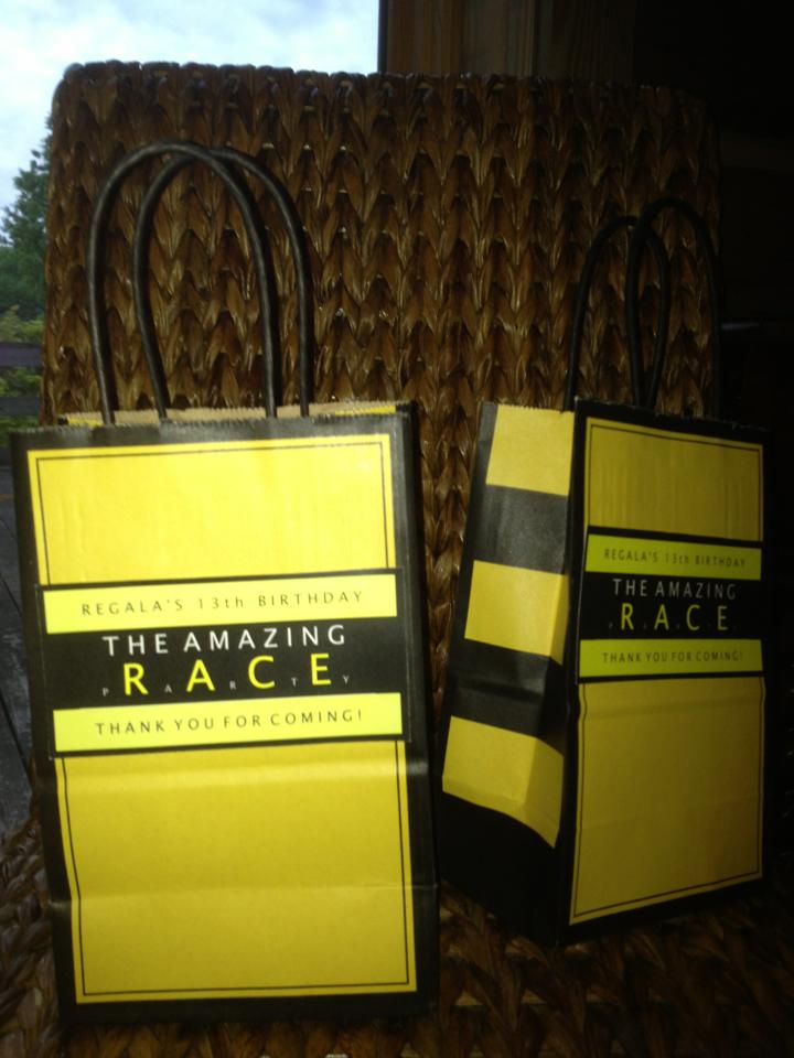 Amazing Race Gift Bags