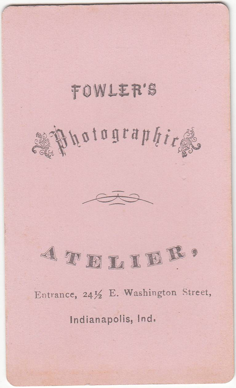 Fowler, photographer of Indianapolis, IN - back