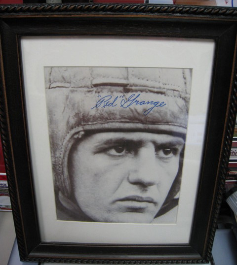 Red Grange Autographed Authenticated By PSA