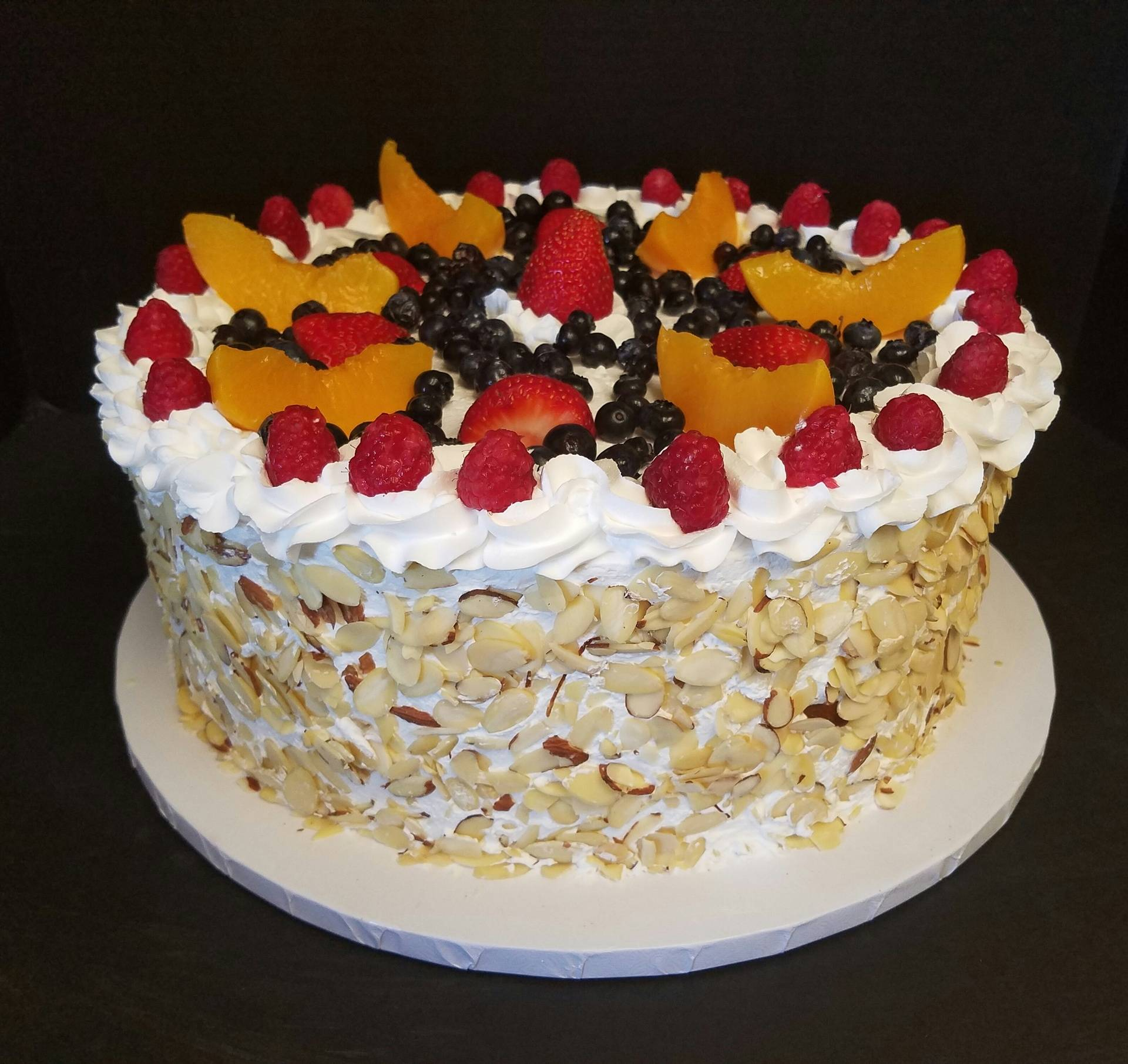 Fruit Cake with Almond Slivers